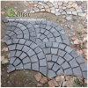 St-018 Black Slate Fan Shape Paving Stone for Landscaping