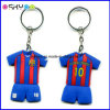 Customized Football Club T-Shirt Silicone Rubber PVC Keychains Key Ring with Your Brand Logo (SPK008)