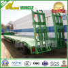 3 Axle 70 Tons Equipment Transport Low Bed Heavy Duty Trailer for Algeria