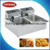 Counter Top Dual Tank Electric Fryer for Restaurant