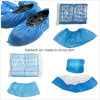 Kxt-Sc26 Anti-Skid and Waterproof Hand-Made CPE Blue Shoe Cover