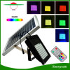 Outdoor IP65 Waterproof 56 LED RGB Solar Flood Light with Remote Control