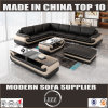 Miami L Shape Leather Sofa for Living Room