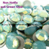 Ss6 1.9-2.1mm Green Opal Non Hot Fix Rhinestones Flat Back Nail Art Crystals (FB-ss6 green opal)