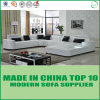 Living Room Furniture White Leather Sectional Sofa Set