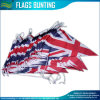 Triangle Bunting Flag, Union Jack String Flags, UK PE Buntings (J-NF11F06021)