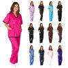 New Medical Womens Contrast Trim Scrub Nursing Uniforms (A580)