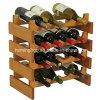 16 Bottles Oak Wooden Wine Bottle Holder for Storage