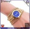 Yxl-398 2016 Geneva Wholesale Quartz Weave Wrap Around Alloy Bracelet Watch Fashion Lady Woman Wrist Watch