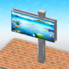 City Outdoor Used Double Face Unipole Advertising Billboard