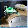 Water Power LED Brass Basin Waterfall Mixer Tap