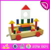 Hot New Product for 2015 Kids Wooden Block Toy, Cheap Toy Building Block for Children, DIY Toy Wooden Block Car Toy W13c017