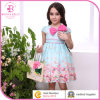 Bowknot Flower Princess Dress, Summer Girl Frocks