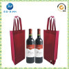 One Bottom Non Woven Wine Bottle Bag with Stifenerjp-Nwb011)