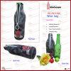 Neoprene Single Wine Bottle Bag with Portrait (6151R2)