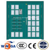 Big Double Size Electric Security Steel Glass Door (W-GD-25)