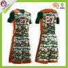 Basketball Uniform Design Camo Printing Basketball Jersey Logo Design with Sublimation