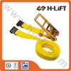 "3"" Ratchet Tie Down Strap Yellow Color with Flat Hook"
