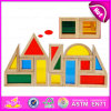 2015 Funny Wooden Building Blocks Toys for Kids, Colorful DIY Building Blocks Toys, Educational Toy Wooden Building Blocks W13A062