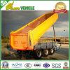 Construction Hydraulic Side Tipping Box Dumper Semi Tipper Trailer