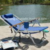Outdoor Camping Chair Steel Folding Beach Chair with Pillow