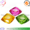 Colorful Square Shape Tealight Glass Candle Holder (CKGCR130218)
