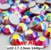 3mm Ss10 Rose Ab Nice Quality Non Hot Fix Flat Back Rhinestones (FB-ss10 rose ab /3A grade)