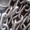 E. Galvanized Medium Link Chain