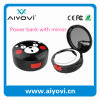 5000mAh Round Shape Make-up Mirror Power Bank Ce, FCC, RoHS