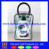 Clear Plastic Bag with Handle and Piping for Promotional Use