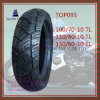 Tubeless, Super Quality, Long Life ISO Nylon 6pr Motorcycle Tire with Size: 110/70-10tl, 110/80-10tl, 130/60-10tl