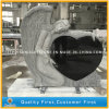 Cheap Tree Carving Tombstone with Pure Black Granite