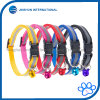 6 Colors Adjustable Dog Cat Collar with Bell Nylon Strap Reflective