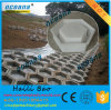 Plastic Precast Concrete Mold for Outdoor Paving Tiles with Plum Hexagonal Pattern