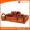Inflatable Orange Obstacle Course Bouncer for Amusement Park (T6-205)
