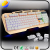 Color Backlight Metal Cover USB Wired Gaming Computer Keyboard