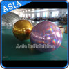 Mirrored Inflatable Gold Balloon with Purple Color for Stage Party Decoration