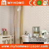 Whtie Wallpaper with PVC Vinyl Surface