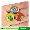 Custom Zinc Alloy Material Round Shape Epoxy Badge