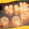 2018 New Design Colorful Rattan Balls LED String Light for Christmas Decoration