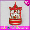 2015 Best Carousel Music Box, Wooden Toy Carousel Music Box, Glowing Carousel and Rotating Music Box, Kids Gift Wholesale W07b010b