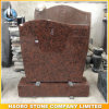 Upright Monument Half-Ser Top Headstones Red Granite