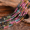 New Arrival Natural Gemstone Loose Strand 4mm Rough Tourmaline Gemstones