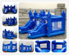 PVC Inflatable Bouncer Castle with Slide, Inflatable Bouncy House Combo