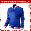 Blue 100% Polyester Quilted Bomber Jacket Women