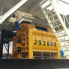 Js3000 Horizontal Twin-Shaft Concrete Mixer with Climbing Bucket