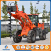 Construction Machinery Hot Sale 2.5ton Front Wheel Loader with Earth Drill