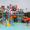 Kid′s Water House Playgound Structures with Water Slide, Animal Shaped, Water Spray