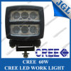 60W Heavy Duty LED CREE Headlight with Black Aluminium Housing