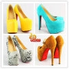 Fashion New Arrivals Lady Dress Shoes, Diamond High Heel Women Shoes